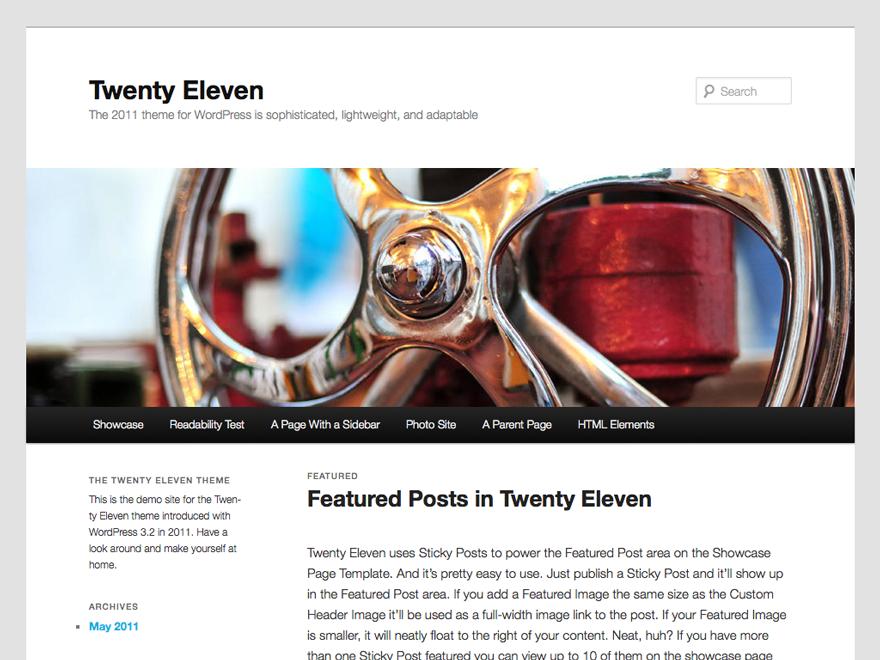 Introducing Twenty Eleven theme